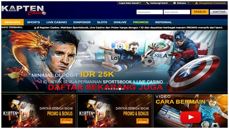 Kapten Casino Situs Judi Live Casino Online Terbaik Indonesia
