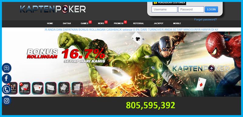 KaptenPoker Situs JUdi Poker Online Terbaik dan Terpercaya di Indonesia